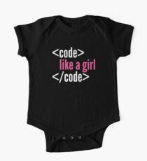 Code like a girl programming One Piece - Short Sleeve
