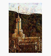 Mount Timpanogos Temple Photographic Print