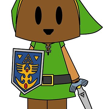 Zelda Bear Link - A Link To The Past by NuthatchDesigns