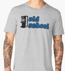 old school gamer game gaming Men's Premium T-Shirt