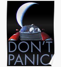 Spacex Starman NICHT PANIK Poster