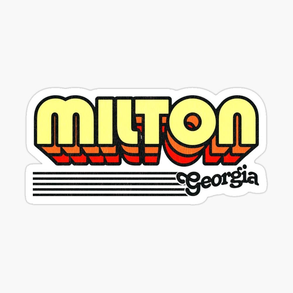 Milton, Georgia | Retro Stripes Sticker