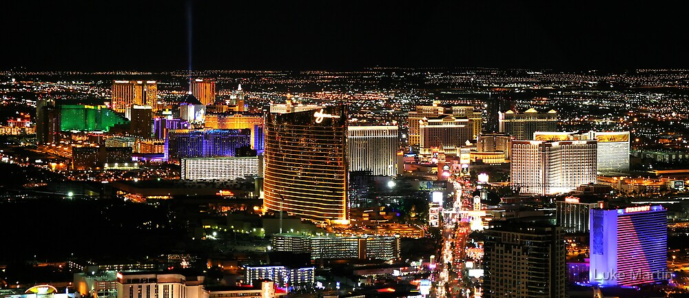 Las Vegas as seen from The Stratosphere by Luke Martin