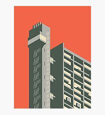 Trellick Tower London - Plain Red Photographic Print