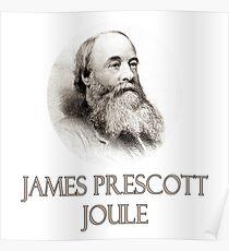 Great Minds in der Wissenschaft - James Prescott Joule Poster