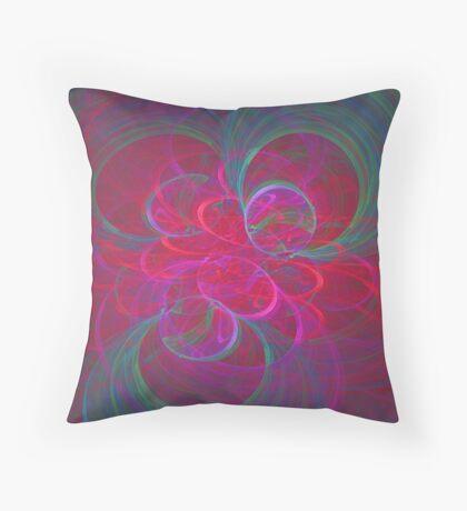 Orbital fractals Throw Pillow