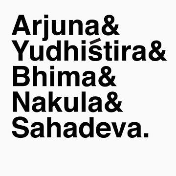 The Pandavas by Kanapathy