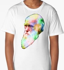 Charles Darwin Colour Splash Long T-Shirt