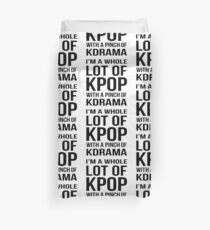 A LOT OF KPOP - WHITE Duvet Cover