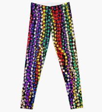 MARDI GRAS : Decorative Necklace Beads Print Leggings