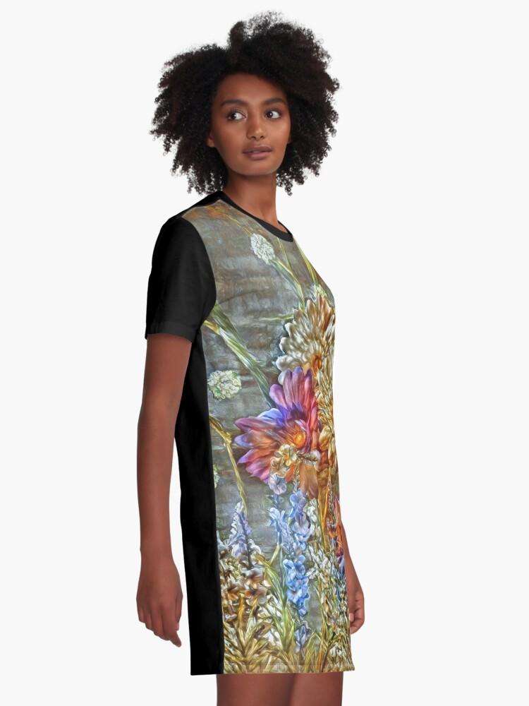Alternate view of Flowers Graphic T-Shirt Dress