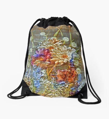 Flowers Drawstring Bag