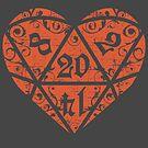 I Heart D20 by artlahdesigns