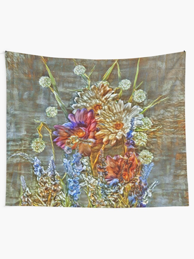 Alternate view of Flowers Tapestry