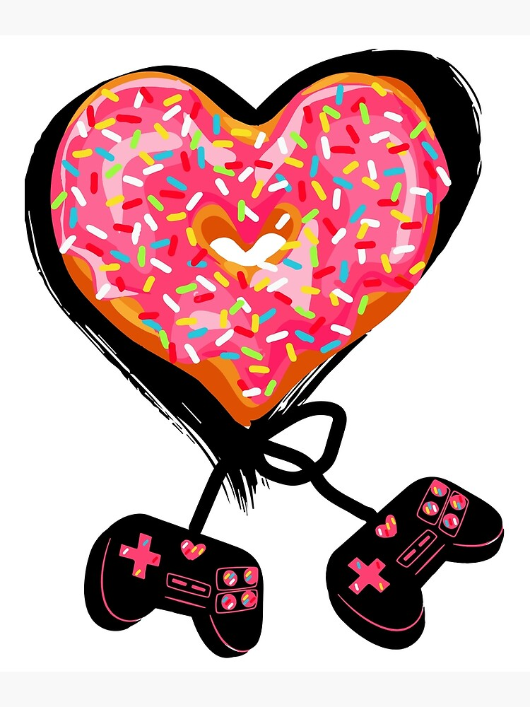 Gaming Console Donut T-Shirt for Donut Lover and Gamer Shirt Gift by mdhirubel