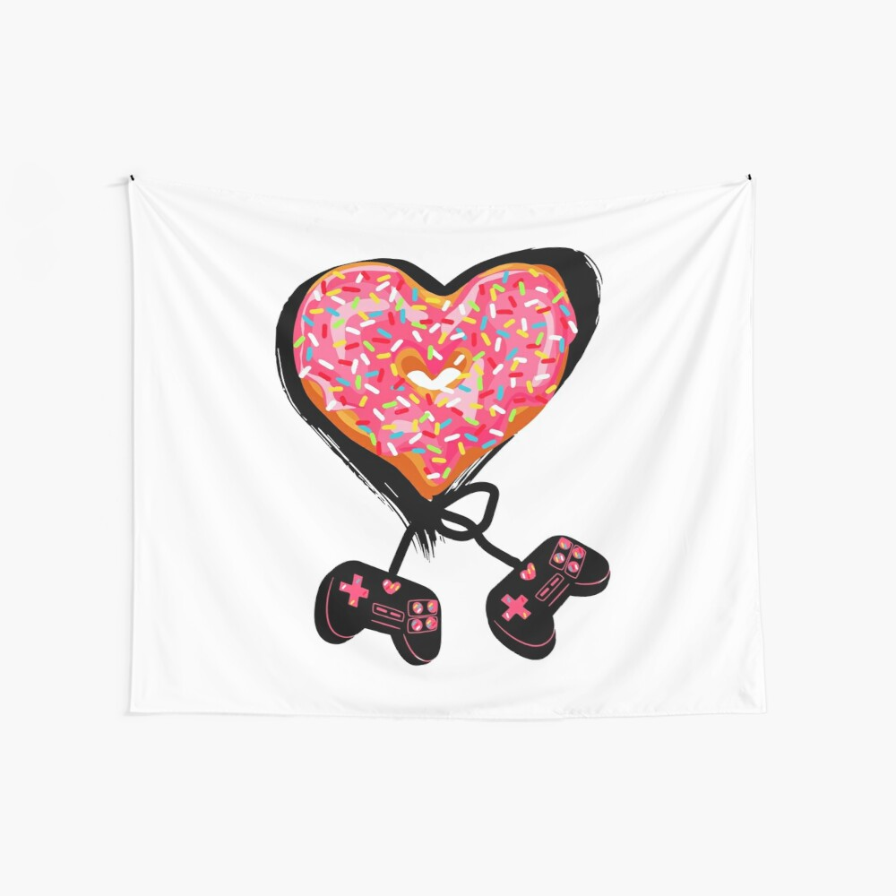 Gaming Console Donut T-Shirt for Donut Lover and Gamer Shirt Gift Wall Tapestry