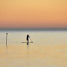 Lone paddler by Peter Hammer