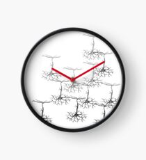 Pyramidal cells on white Clock