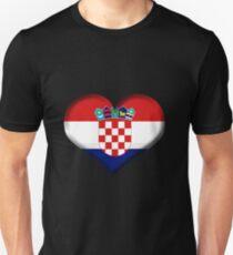 Croatia Heart Flag Unisex T-Shirt