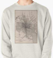 Vintage Baltimore Transit Line Map (1900) Pullover Sweatshirt