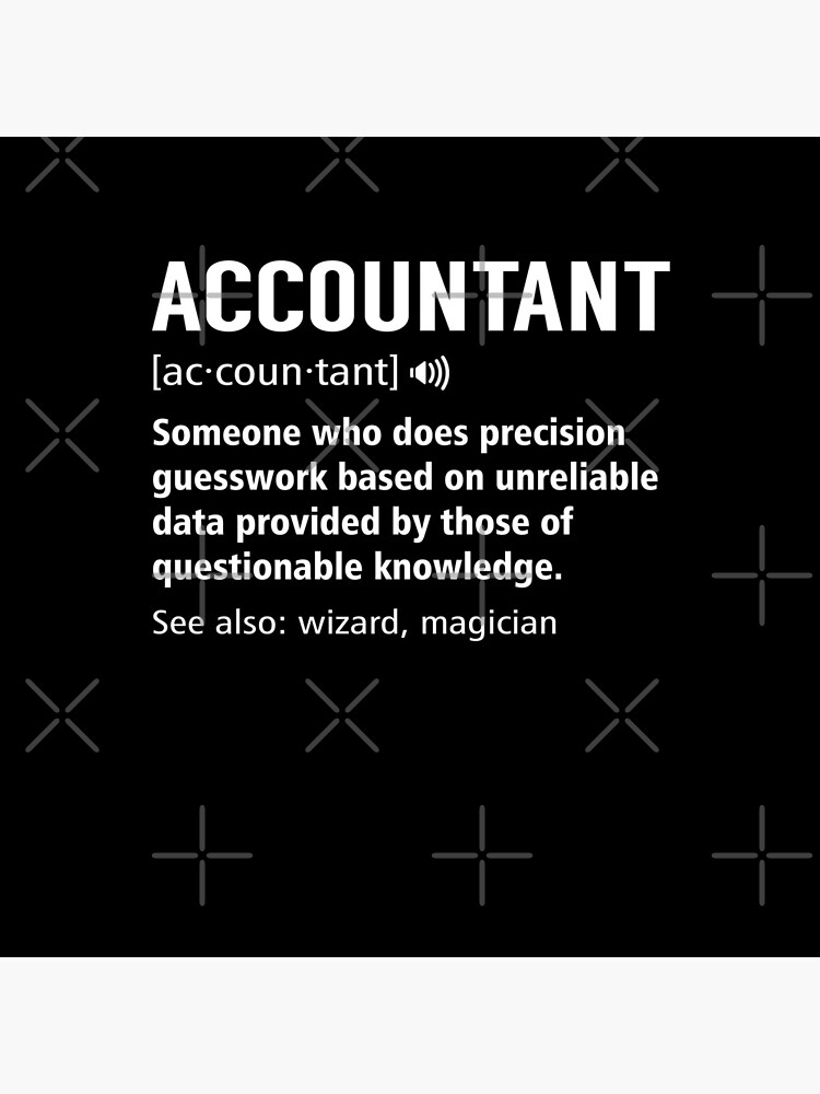 Accountant Definition Funny Accounting Noun Meaning Gift by JapaneseInkArt