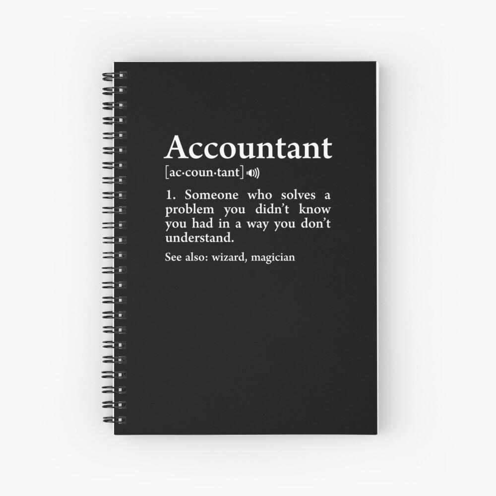 Contador Definición Significado Asistente Funny Accounting Gift Cuaderno de espiral