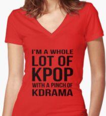 Eine Menge KPOP - PINK Shirt mit V-Ausschnitt