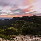 Sunset at Mt Solitary and Narrowneck, NSW, Australia by GeorgeOne