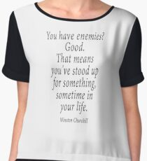 ENEMIES, Sir Winston Churchill Chiffon Top