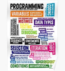 Programming Coding Key Vocabulary Literacy and Definitions Poster