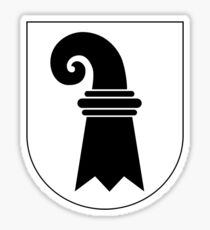 Coat of Arms of Basel-Stadt Canton Sticker