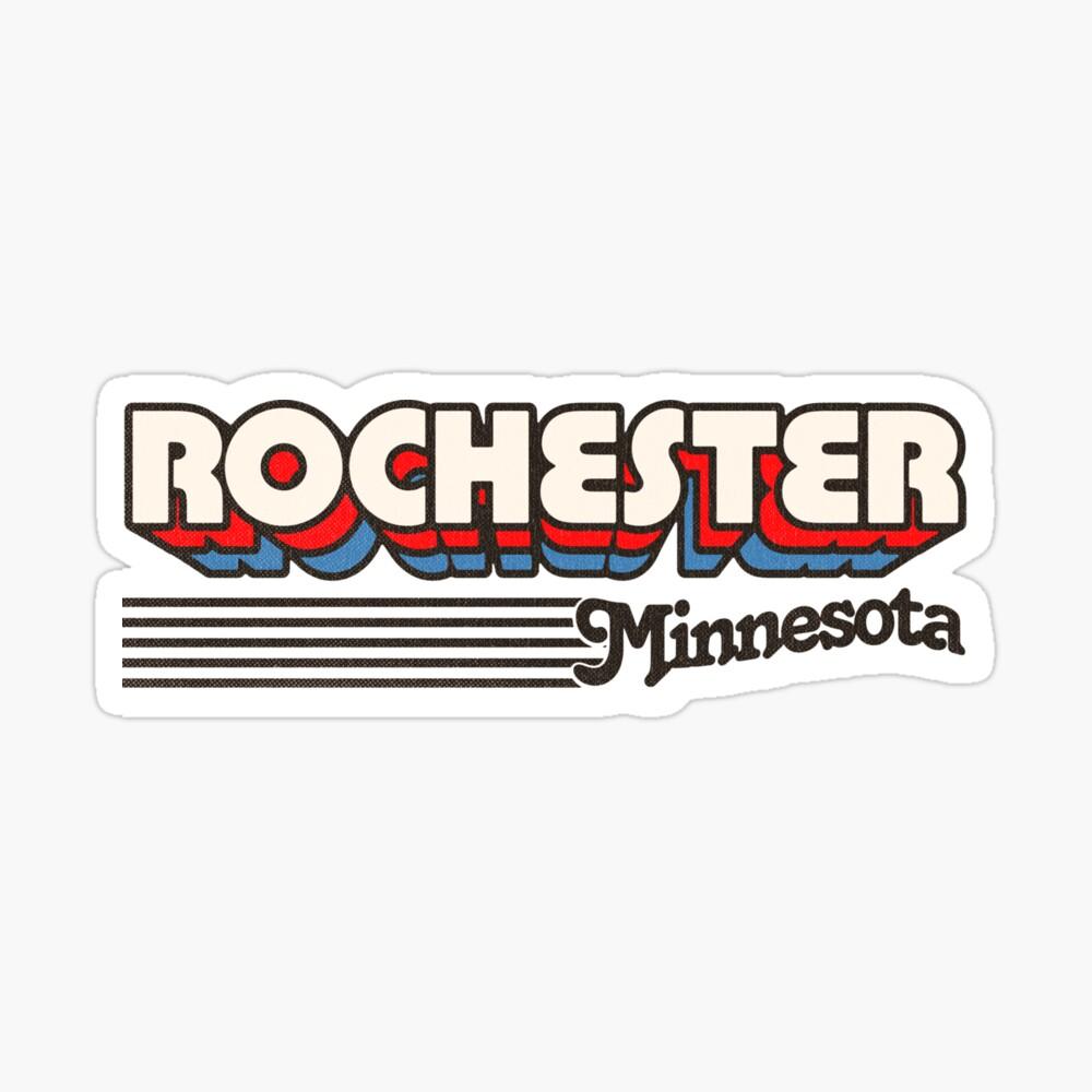 Rochester, Minnesota | Retro Stripes Sticker