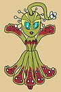 Carniverous Plant Ballerina Woman CHIBI SD MONSTER GIRLS Series I by angelasasser