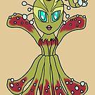 Carniverous Plant Ballerina Woman CHIBI SD MONSTER GIRLS Series I by angelasasser