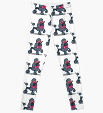 Funny Poodle Tshirt - Dog Gift Ideas for Toy Poodle and Miniature Poodle lovers Leggings