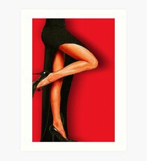 Sexy Pins Also Known As LEGS 1 Art Print