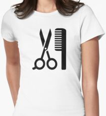 Comb scissors Womens Fitted T-Shirt