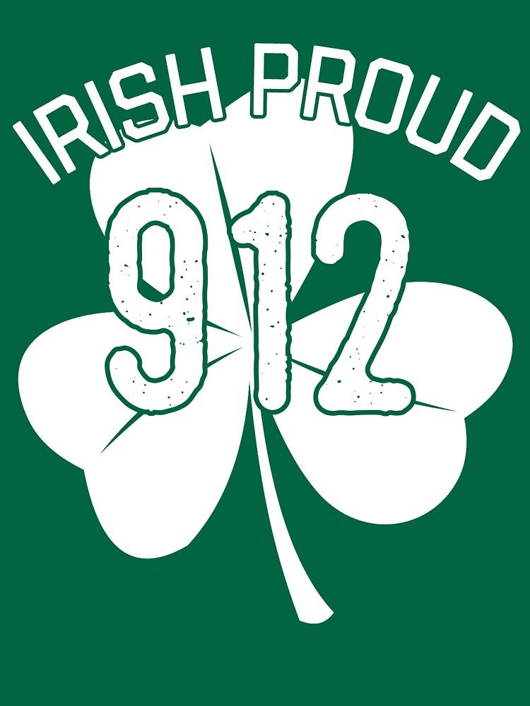 Irish Proud Savannah Area Code 912 Shirt St Patricks Day Gear In White By DynamicDesign