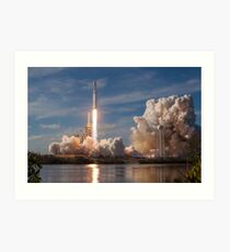 SpaceX Falcon Heavy Liftoff (8K resolution) Art Print