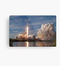 SpaceX Falcon Heavy Liftoff (8K resolution) Metal Print