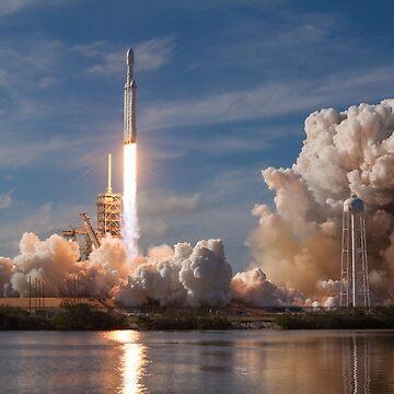 SpaceX Falcon Heavy Liftoff (8K resolution) by bobbooo
