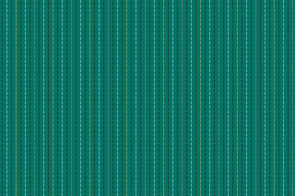 Running Stitch on Teal by Annie Webster