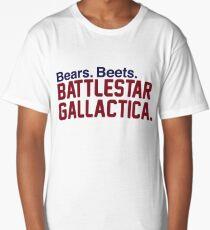Bears. Beets. Battlestar Gallactica. Long T-Shirt