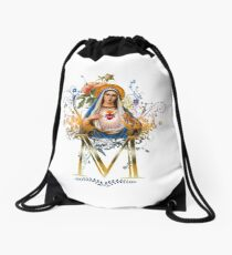 Immaculate Heart of Mary Drawstring Bag