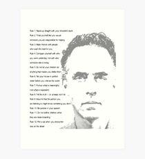 Jordan Peterson 12 Regeln für das Leben Kunstdruck