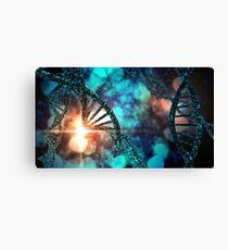 DNA Strand Collage Canvas Print