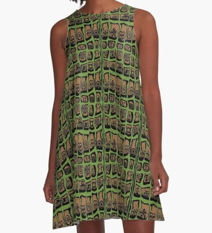 Sage A-Line Dress