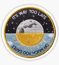 Way Too Late Patch Sticker