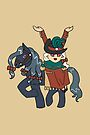 Dullahan Headless Horsewoman Rider CHIBI SD MONSTER GIRLS Series I by angelasasser