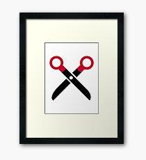 Scissors symbol Framed Print